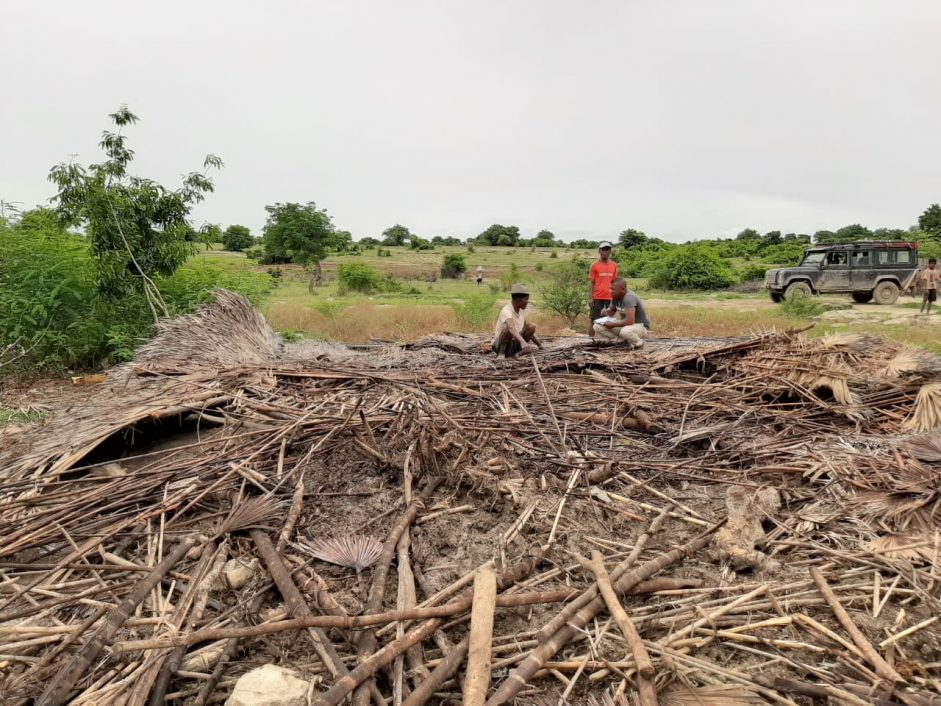 Houses destroyed in Madagacsar